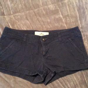 Hollister size 5 shorts dark blue